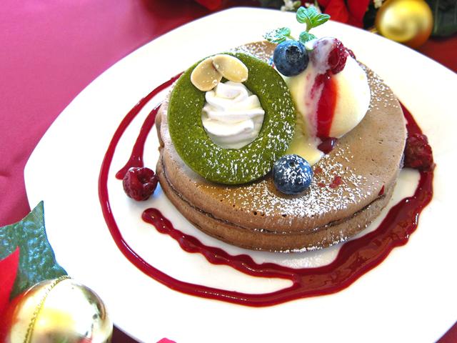 新潟市でクリスマスのパンケーキ