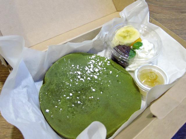 抹茶のパンケーキもテイクアウト(新潟市中央区)